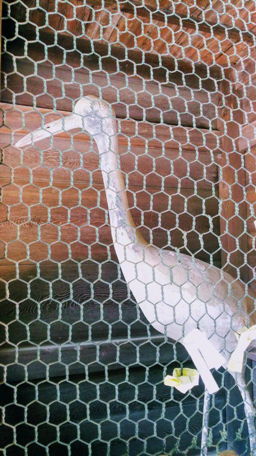 白鳥神社の御鶴門の吽形の鶴