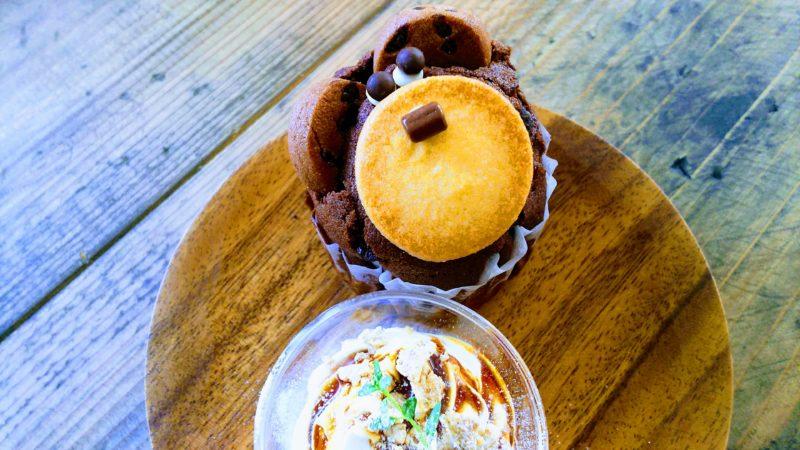 阿波市のスプーンカフェのマフィン
