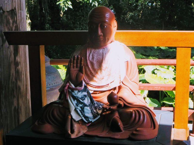 最御崎寺の本堂の賓頭盧尊者像