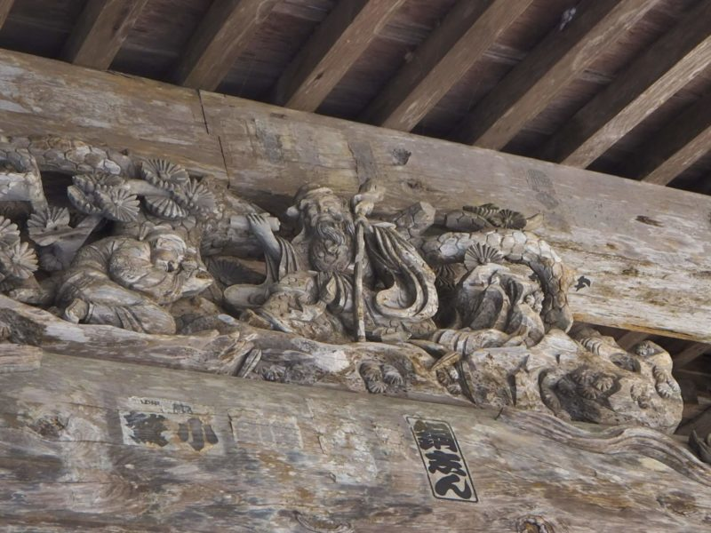 最御崎寺の本堂の立派な彫刻